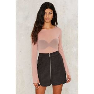 nasty gal turn a corner mini skirt